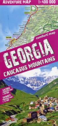 Georgia mapa samochodowo-turystyczna (skala 1:400 000) - okładka książki
