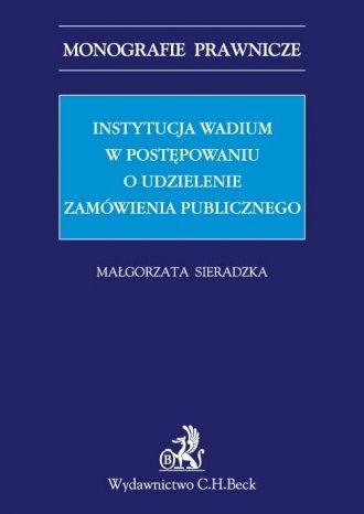 Instytucja wadium w postępowaniu - okładka książki