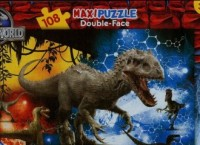 Jurajski Park (puzzle dwustronne 108-elem.) - zdjęcie zabawki, gry