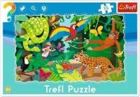 Las tropikalny (puzzle ramkowe 15-elem.) - zdjęcie zabawki, gry