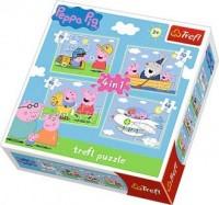 Podróże Peppy (puzzle 4 w 1) - zdjęcie zabawki, gry