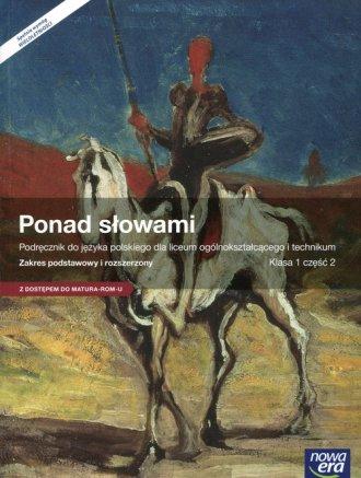 Ponad słowami 1 Język polski Podręcznik - okładka podręcznika