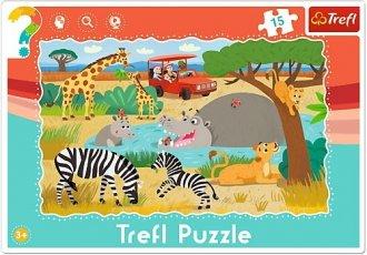 Safari (puzzle ramkowe 15-elem.) - zdjęcie zabawki, gry