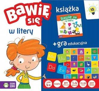 Bawię się w litery (+ gra edukacyjna) - okładka książki