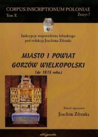Miasto i powiat Gorzów Wielkopolski do 1815 roku. Tom 10 - okładka książki
