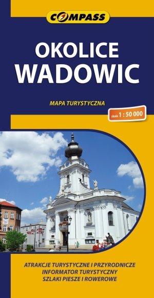 Okolice Wadowic mapa turystyczna - okładka książki