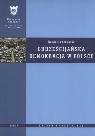 Chrześcijańska demokracja w Polsce. - okładka książki