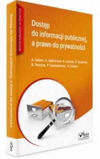 Dostęp do informacji publicznej a prawo do prywatności. - okładka książki