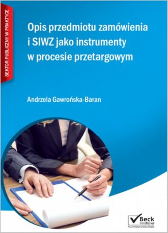 Opis przedmiotu zamówienia i SIWZ - okładka książki