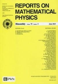Reports on Mathematical Physics 75/3 2015. Kraj - okładka książki