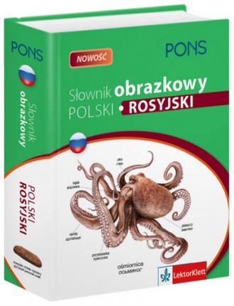 Słownik obrazkowy polski, rosyjski - okładka podręcznika