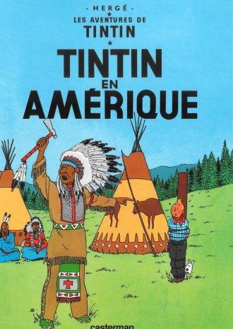Tintin en Amerique - okładka książki