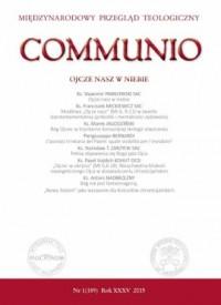 Communio nr 1(189)2015. Ojcze nasz - okładka książki