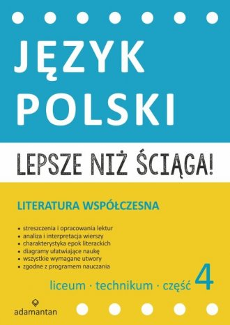 Lepsze niż ściąga. Język polski. - okładka podręcznika