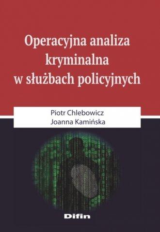 Operacyjna analiza kryminalna w - okładka książki