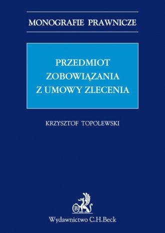 Przedmiot zobowiązania z umowy - okładka książki