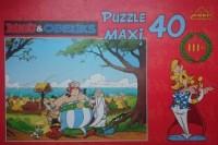 Asteriks i Obeliks. Przyjaciele (puzzle maxi 40-elem.) - zdjęcie zabawki, gry