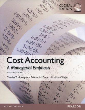 Cost Accounting - okładka książki