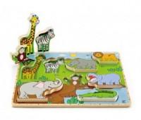 Dzikie zwierzęta (puzzle stojące) - zdjęcie zabawki, gry