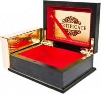 Karty do gry złote w ozdobnej szkatułce - zdjęcie zabawki, gry