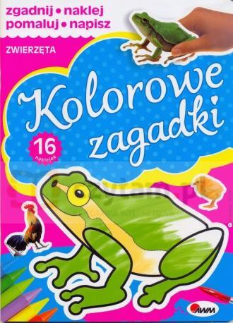 Kolorowe zagadki. Zwierzęta - okładka książki