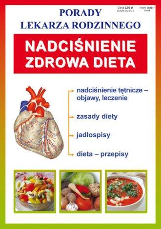 Nadciśnienie. Zdrowa dieta. Seria: - okładka książki