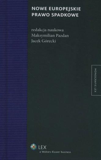 Nowe europejskie prawo spadkowe - okładka książki