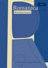 Romanica Wratislaviensia LXII. Noms propres: mode(s) d'emploi - okładka książki