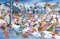 Święta na Stoku (puzzle 1000-elem.) - zdjęcie zabawki, gry