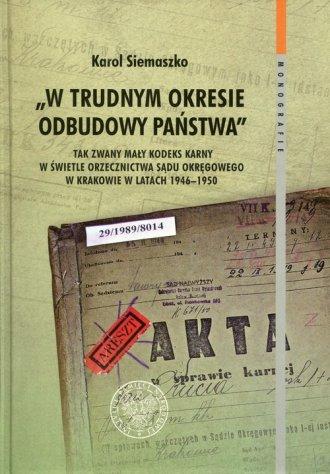 W trudnym okresie odbudowy państwa. - okładka książki