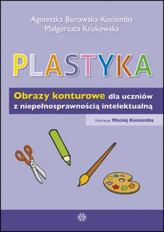 Plastyka Obrazy konturowe dla uczniów - okładka książki