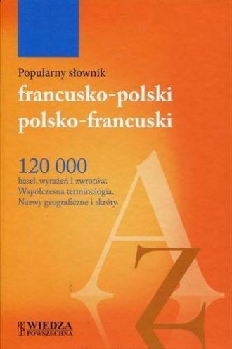 Popularny słownik francusko-polski, - okładka podręcznika