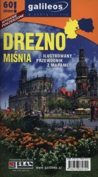 Drezno, Miśnia. Ilustrowany przewodnik z mapami - okładka książki