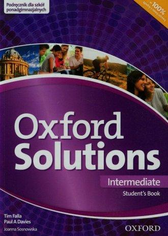 Oxford Solutions Intermediate. - okładka podręcznika