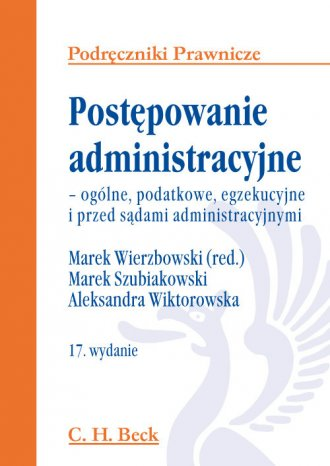 Postępowanie administracyjne - - okładka książki