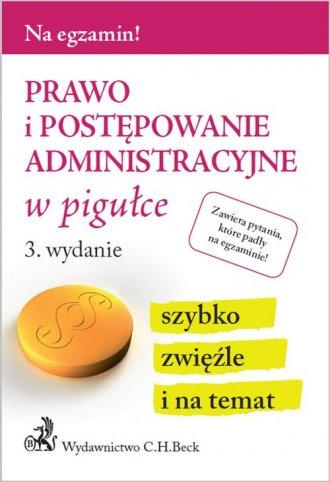 Prawo i postępowanie administracyjne - okładka książki