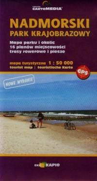 Nadmorski Park Krajobrazowy mapa turystyczna (skala 1:50 000) - okładka książki