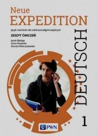Neue Expedition Deutsch 1. Szkoła ponadgimnazjalna. Zeszyt ćwiczeń - okładka podręcznika