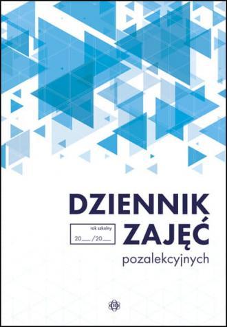 Dziennik zajęć pozalekcyjnych - okładka książki