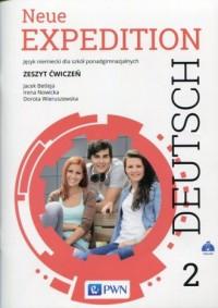 Neue Expedition Deutsch 2. Szkoła ponadgimnazjalna. Zeszyt ćwiczeń - okładka podręcznika