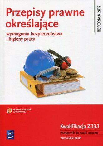 Przepisy prawne określające wymagania - okładka podręcznika