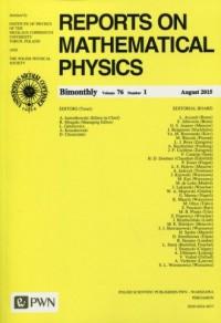 Reports on Mathematical Physics 76/1 2015 kraj - okładka książki