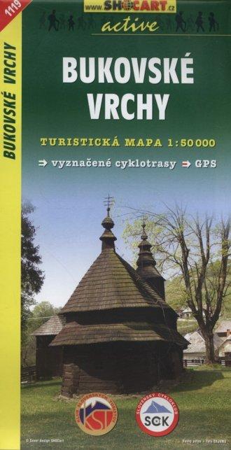 Bukovske Vrchy Mapa turystyczna - okładka książki
