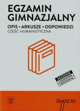 Egzamin gimnazjalny. Część humanistyczna. - okładka podręcznika