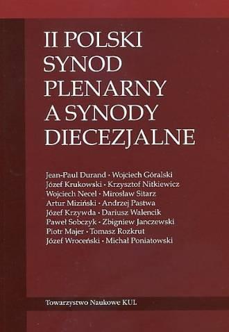 II Polski Synod Plenarny a synody - okładka książki