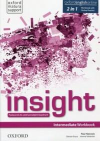 Insight. Intermediate Workbook with Online Practice. Szkoła ponadgimnazjalna - okładka podręcznika