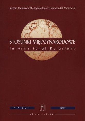 Stosunki Międzynarodowe Tom 51 - okładka książki