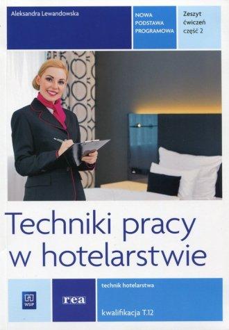 Techniki pracy w hotelarstwie Zeszyt - okładka podręcznika