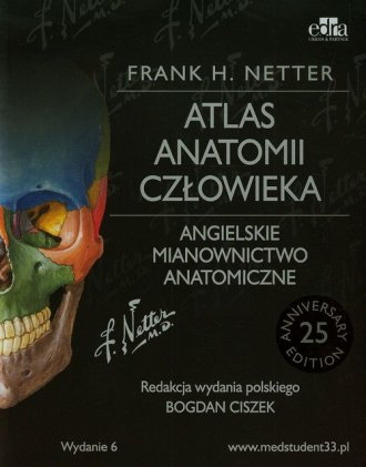 Atlas anatomii człowieka. Angielskie - okładka książki