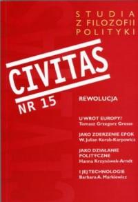 Civitas nr 15. Studia z filozofii polityki. Rewolucja - okładka książki